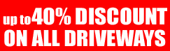 Pro Pave special offer - up to 40% discount on driveways